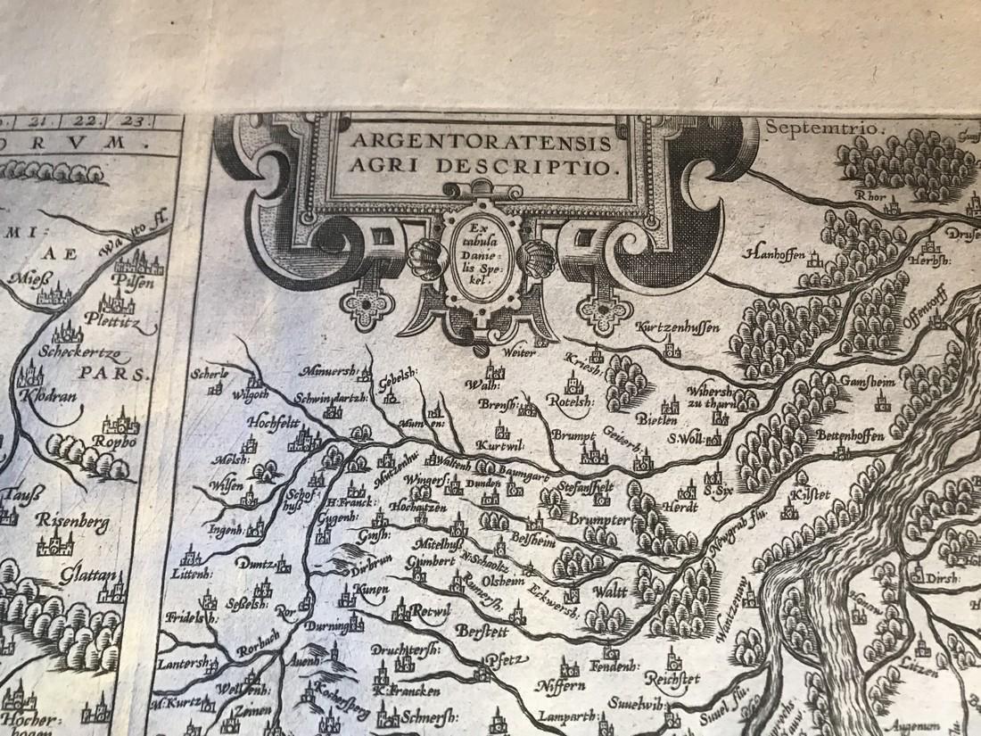 Ortelius Antique Map: Palatinatus Bavariae Descriptio, - 3