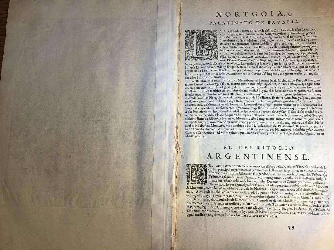 Ortelius Antique Map: Palatinatus Bavariae Descriptio, - 4