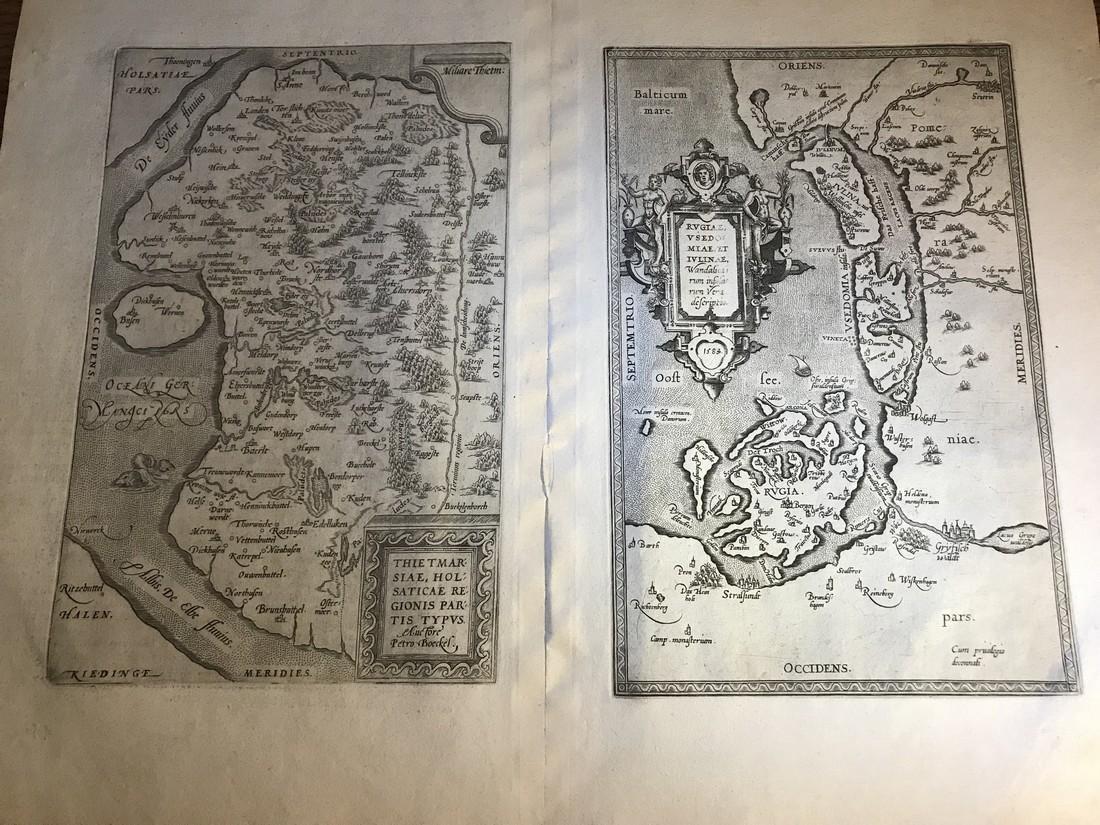 Ortelius Antique Map: Thietmarsiae Holsaticae Regionis