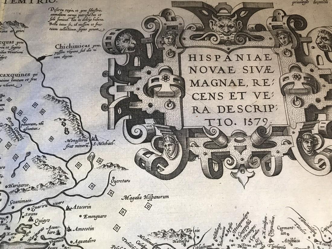 Ortelius Antique Map: Hispaniae Novae Sivae Magnae - 2
