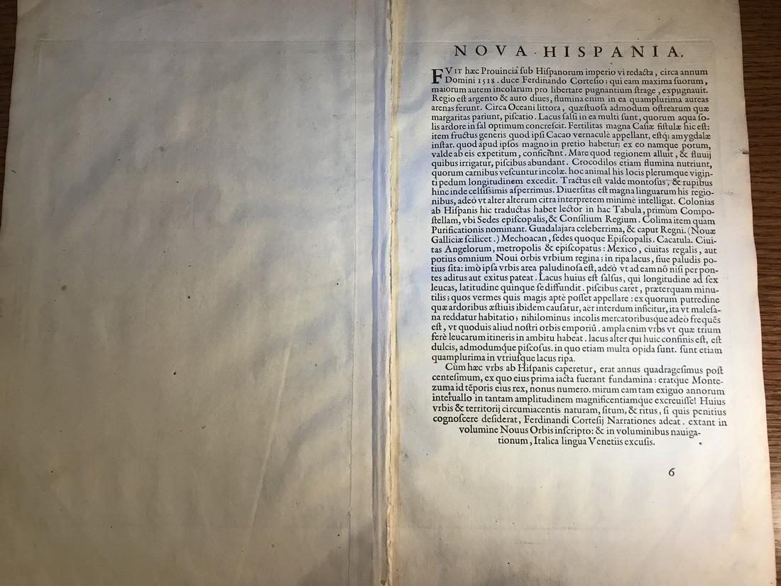 Ortelius Antique Map: Hispaniae Novae Sivae Magnae - 3