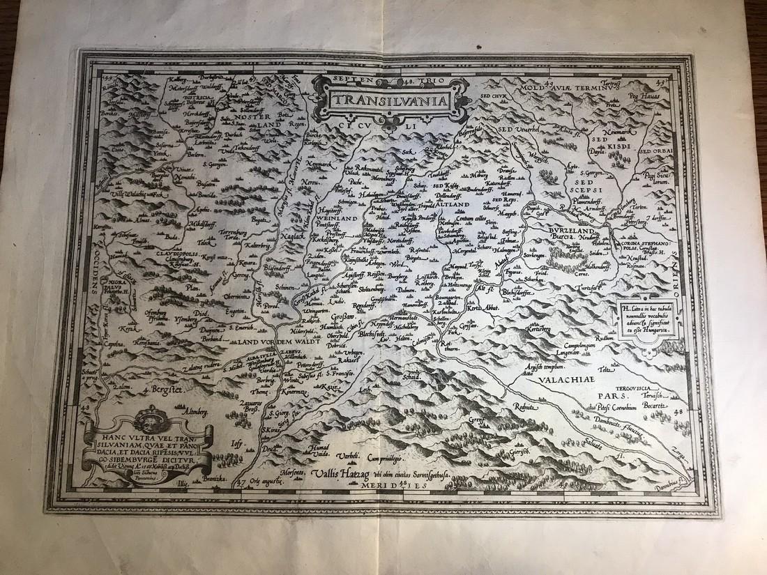 Ortelius Antique Map: Transilvania