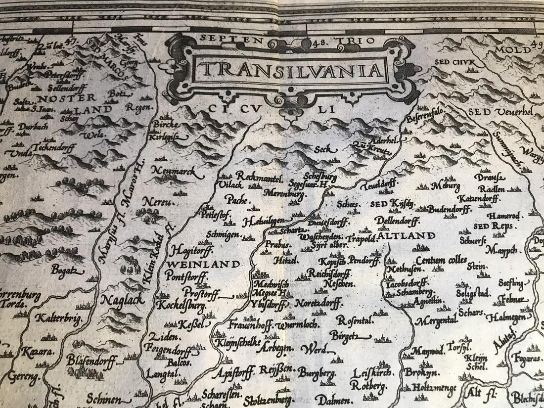 Ortelius Antique Map: Transilvania - 2