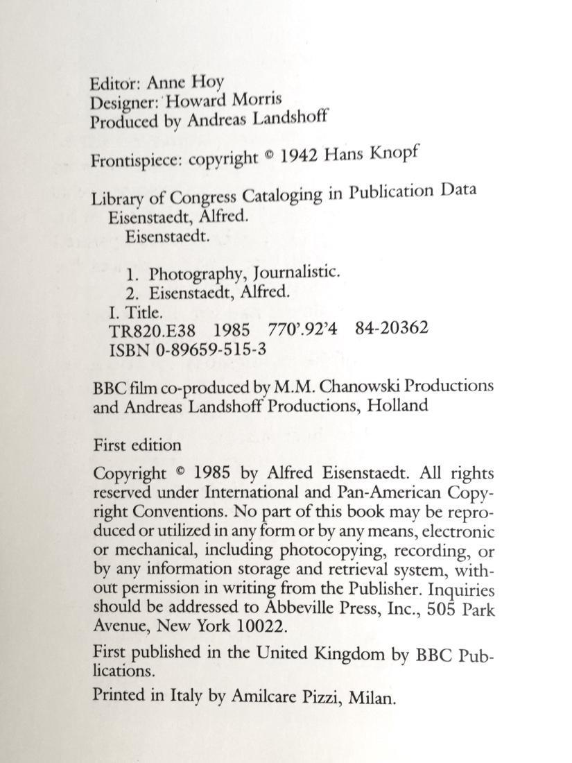 Eisenstaedt on Eisenstaedt Alfred First Edition - 2