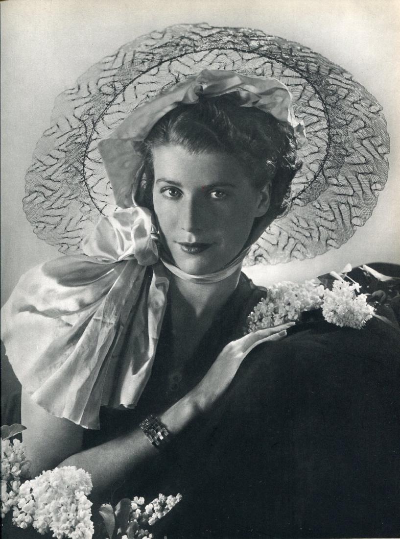 PHILIPPE POTTIER - Jeune femme en chapeau