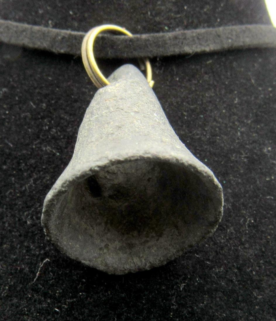 Ancient Bronze Age Bell Pendant - 3