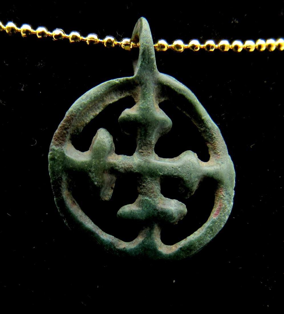 Medieval Crusaders Open-Work Cross Pendant