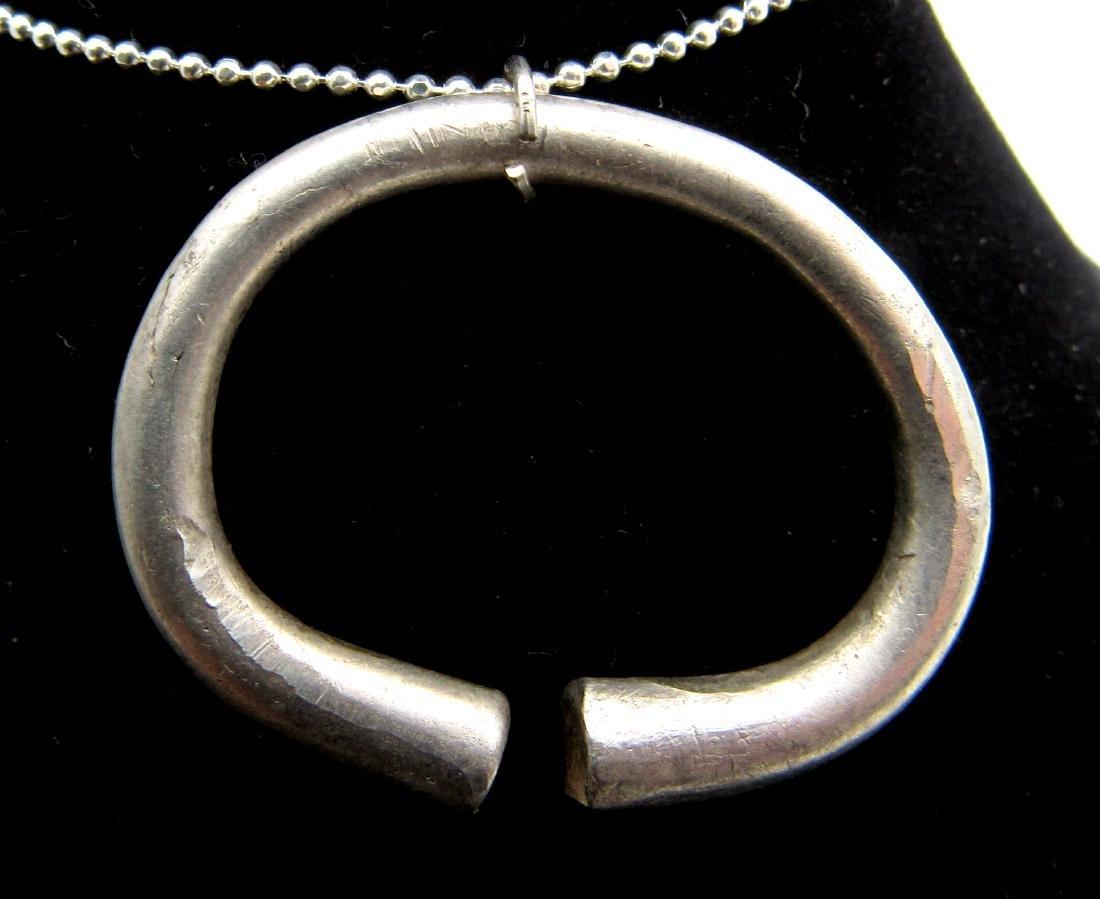 Medieval Viking Silver Ring Pendant