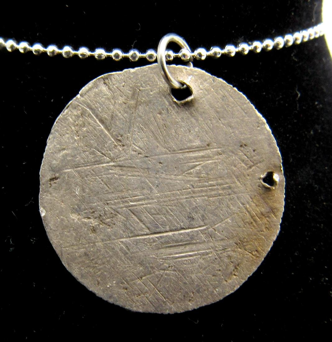 Medieval Viking Silver Hammered Coin Pendant