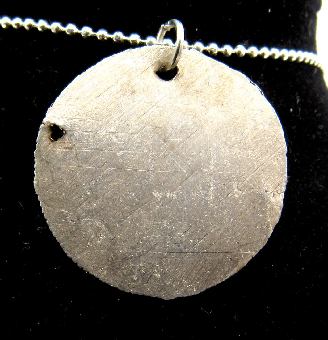 Medieval Viking Silver Hammered Coin Pendant - 2