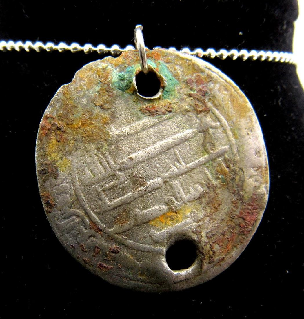 "Medieval Viking Silver ""Islamic Coin"" Pendant"