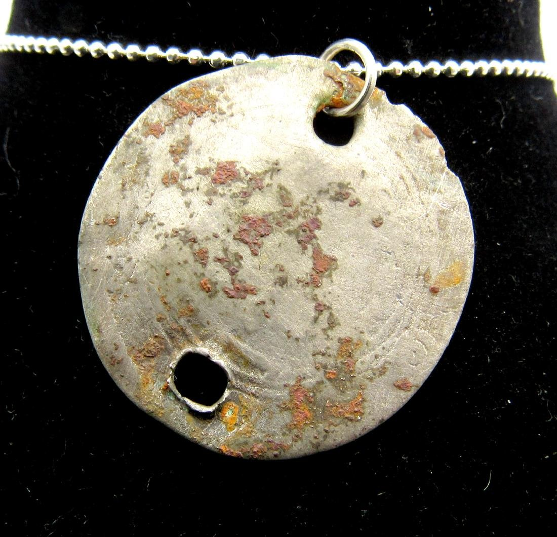 "Medieval Viking Silver ""Islamic Coin"" Pendant - 2"