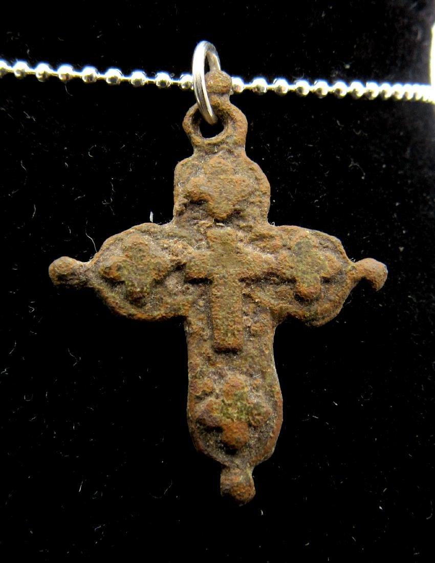 Medieval Crusaders Cross Pendant with Cross Motif - 2