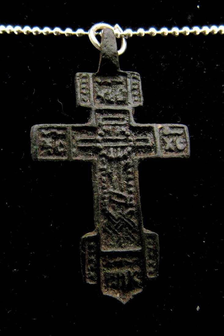 Late Medieval Bronze Cross Pendant