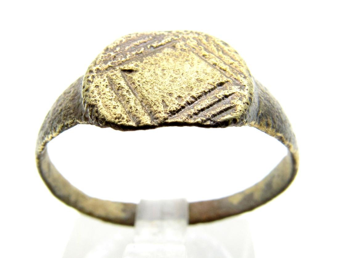 Medieval Viking Bronze Decorated Ring