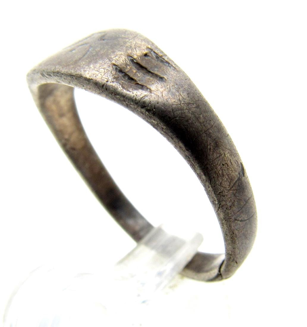 Medieval Viking Silver Runic Ring - 2