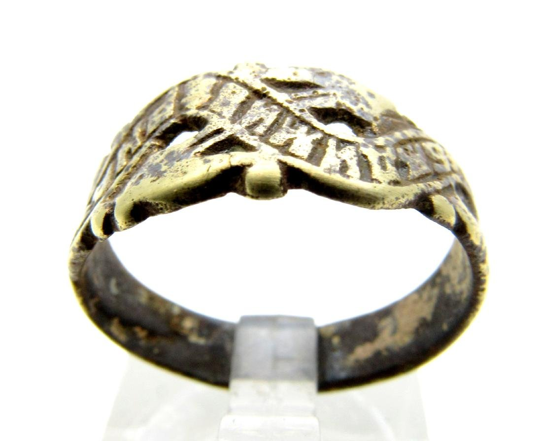Post Medieval Bronze Be Faithful Ring