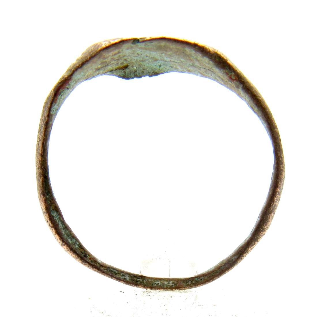 Medieval Viking Bronze Runic Ring - 3