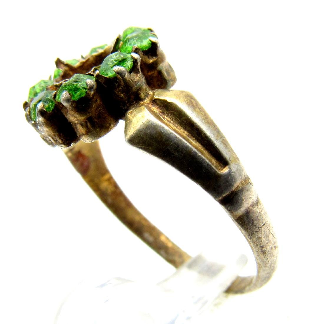 Post Medieval Silver Hallmarked Ring with Stones - 2