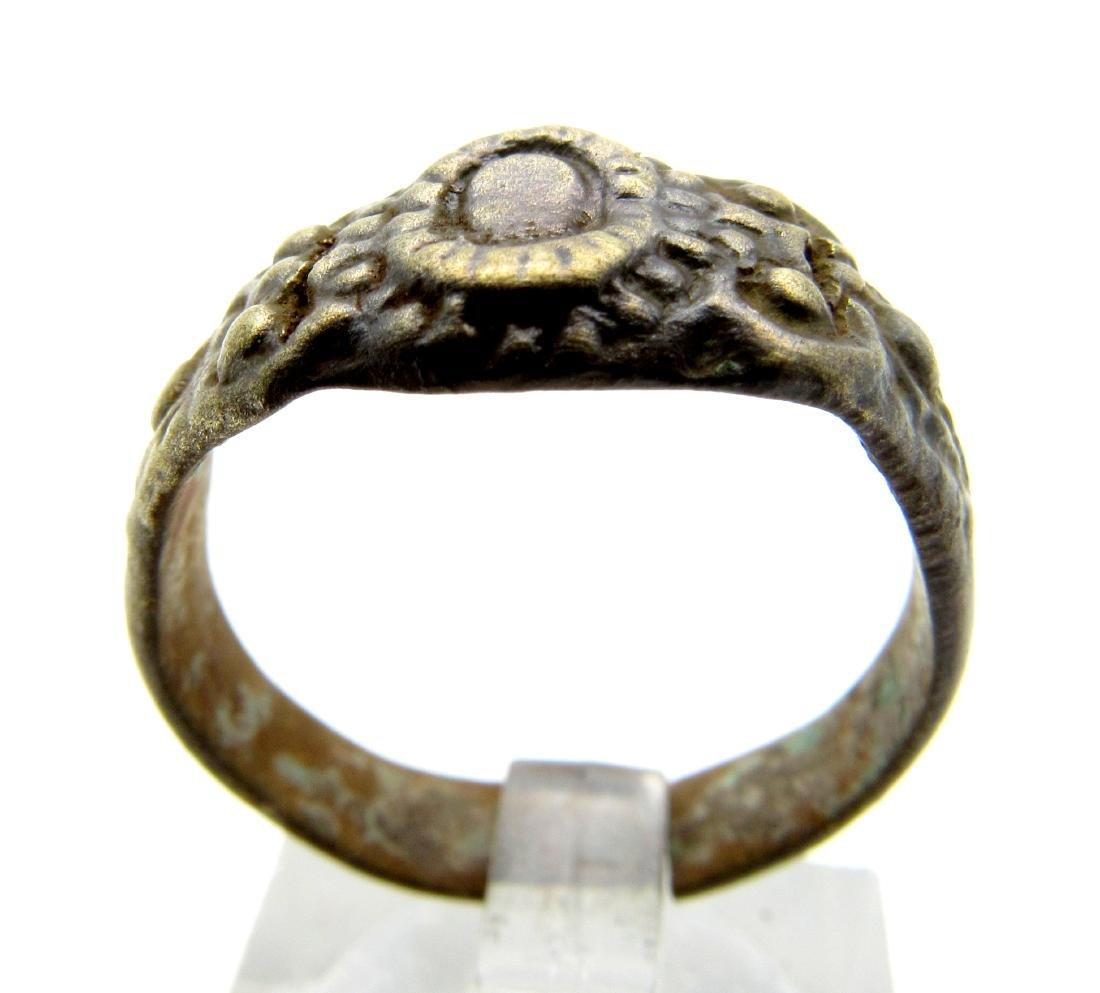 Late Medieval Tudor Bronze Floral Wedding Ring
