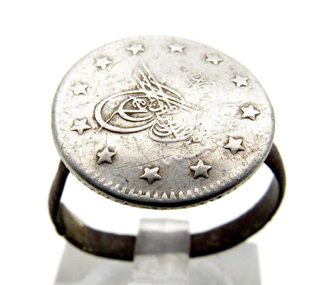 Post Medieval Silver Islamic Coin Ring