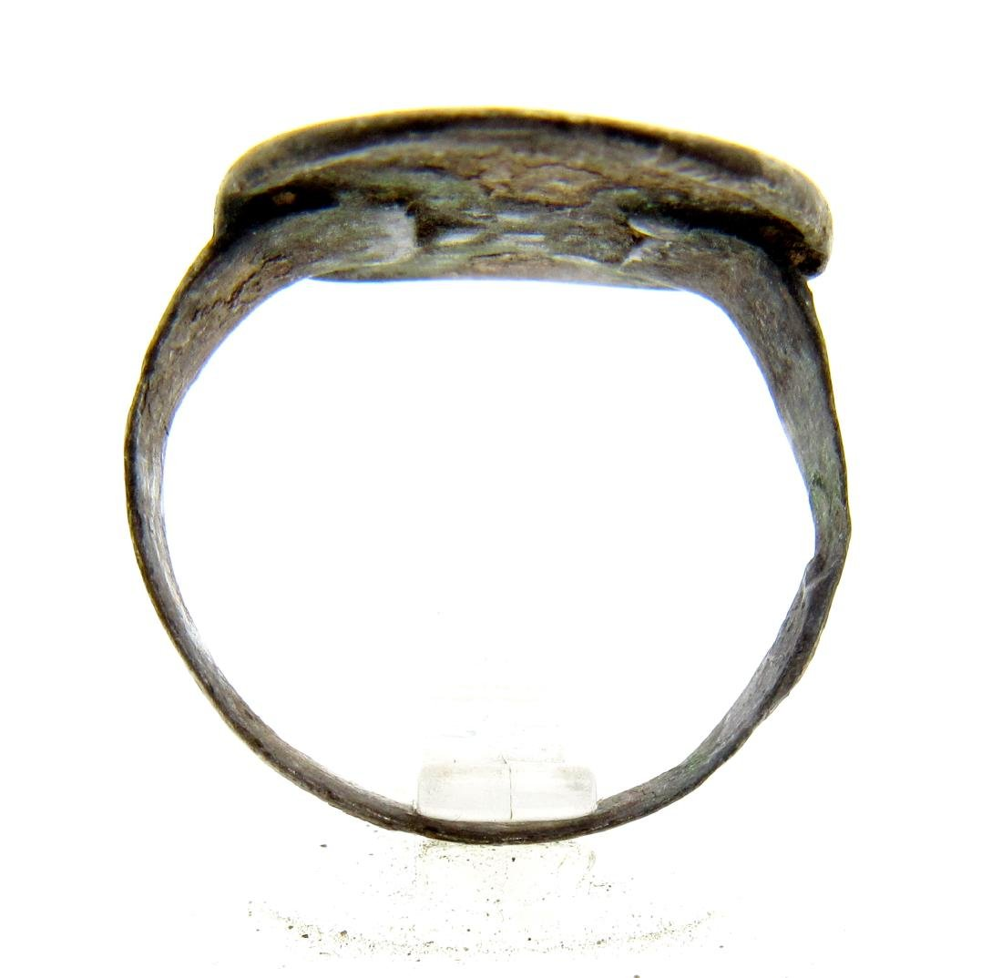 Medieval Silver Decorated Heraldic Ring - 3