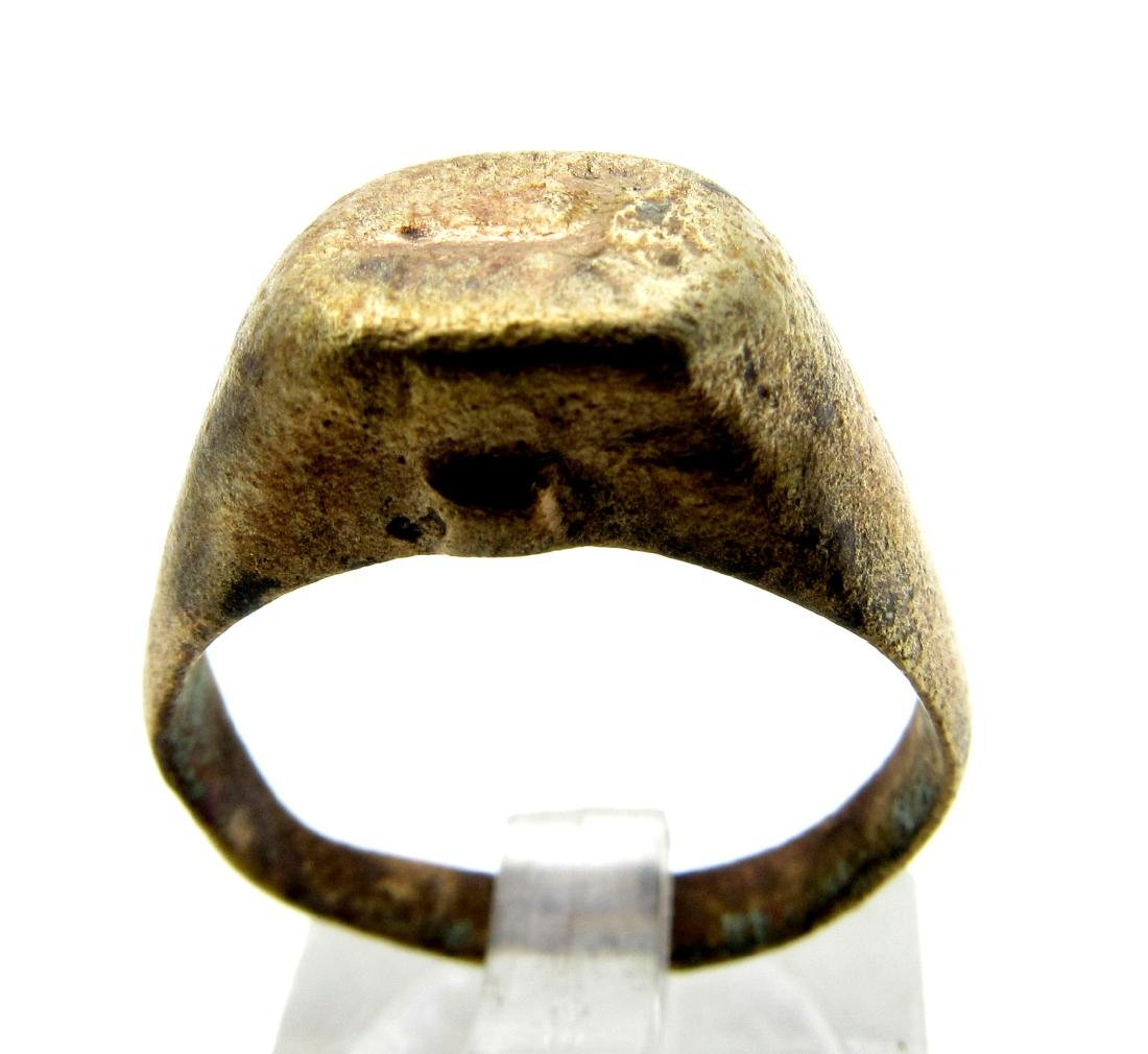 Ancient Roman Bronze Ring with Centaur on the Bezel
