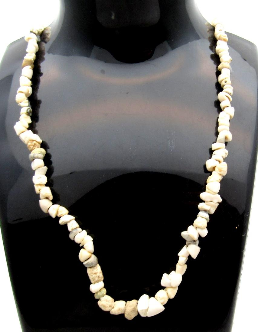 Ancient Roman Shell & Stone Necklace with 100+ Beads