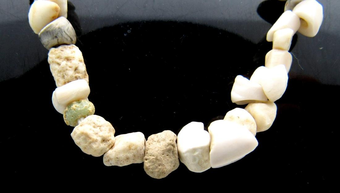 Ancient Roman Shell & Stone Necklace with 100+ Beads - 2