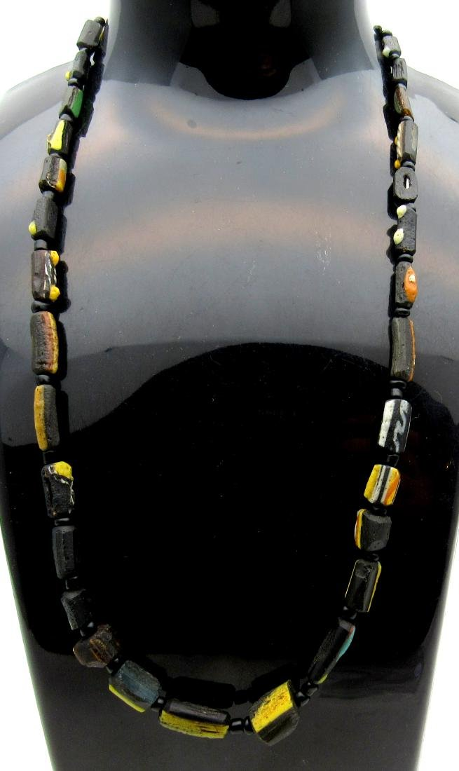 Medieval Viking Glass Necklace with 34 Beads