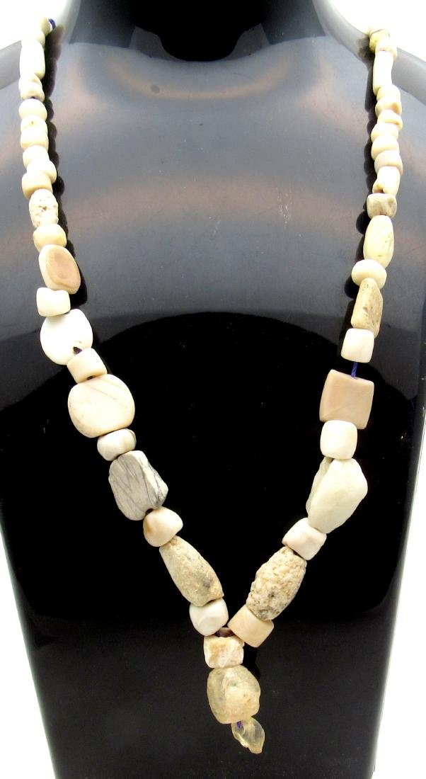 Ancient Roman Shell & Stone Necklace with 88 Beads
