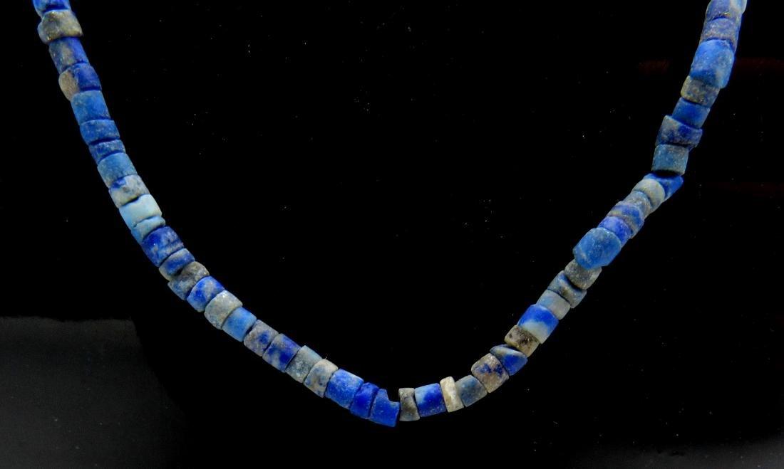Ancient Roman Lapis Lazuli Necklace with 100+ Beads - 2