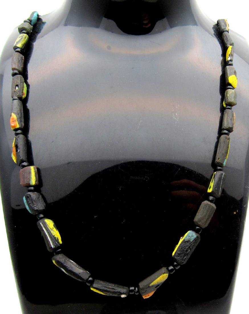 Medieval Viking Glass Necklace with 31 Beads