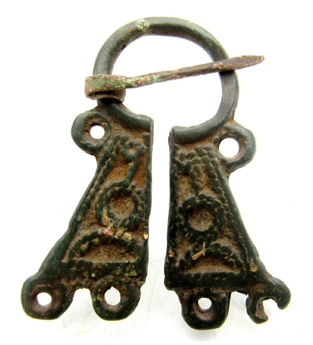 Medieval Viking Bronze Omega Penannular Brooch with
