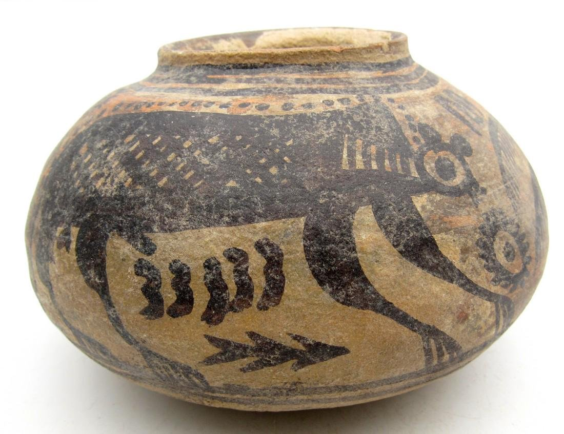 Ancient Indus Valley Terracotta Jar with Monkey Motif - 2