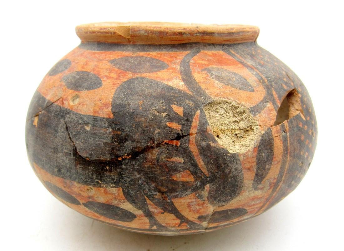 Ancient Indus Valley Terracotta Jar with Bull Motif - 2