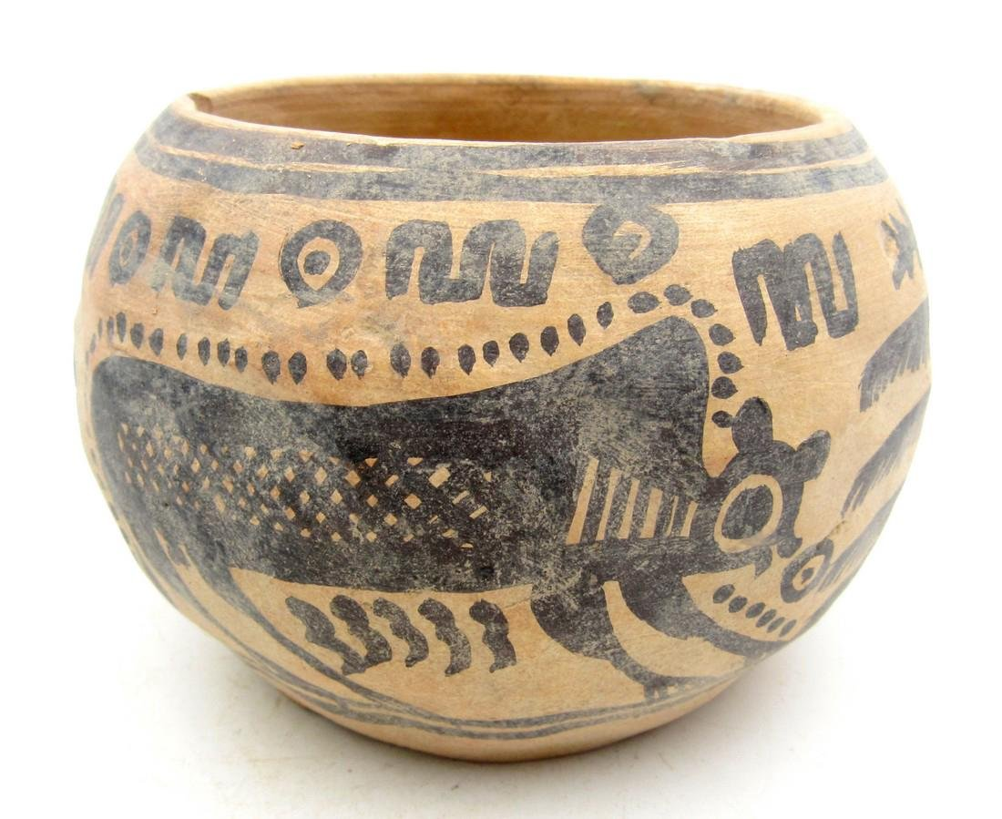 Ancient Indus Valley Terracotta Bowl with Monkey Motif