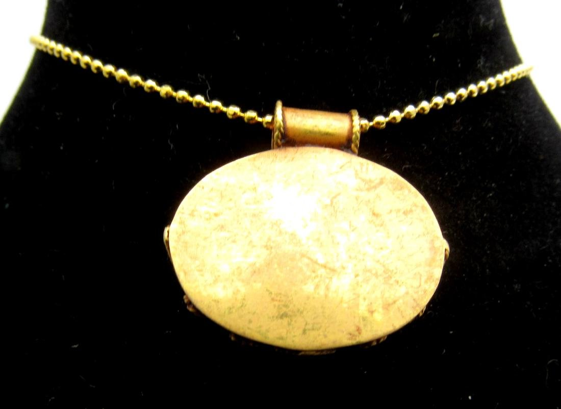 Medieval Persian Gold Pendant with Carnelian Intaglio - 3