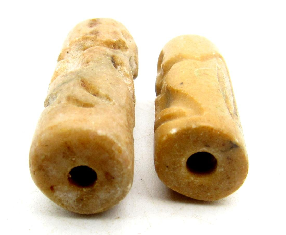 Pair of Sassanian Style Near Eastern Agate Intaglio - 2