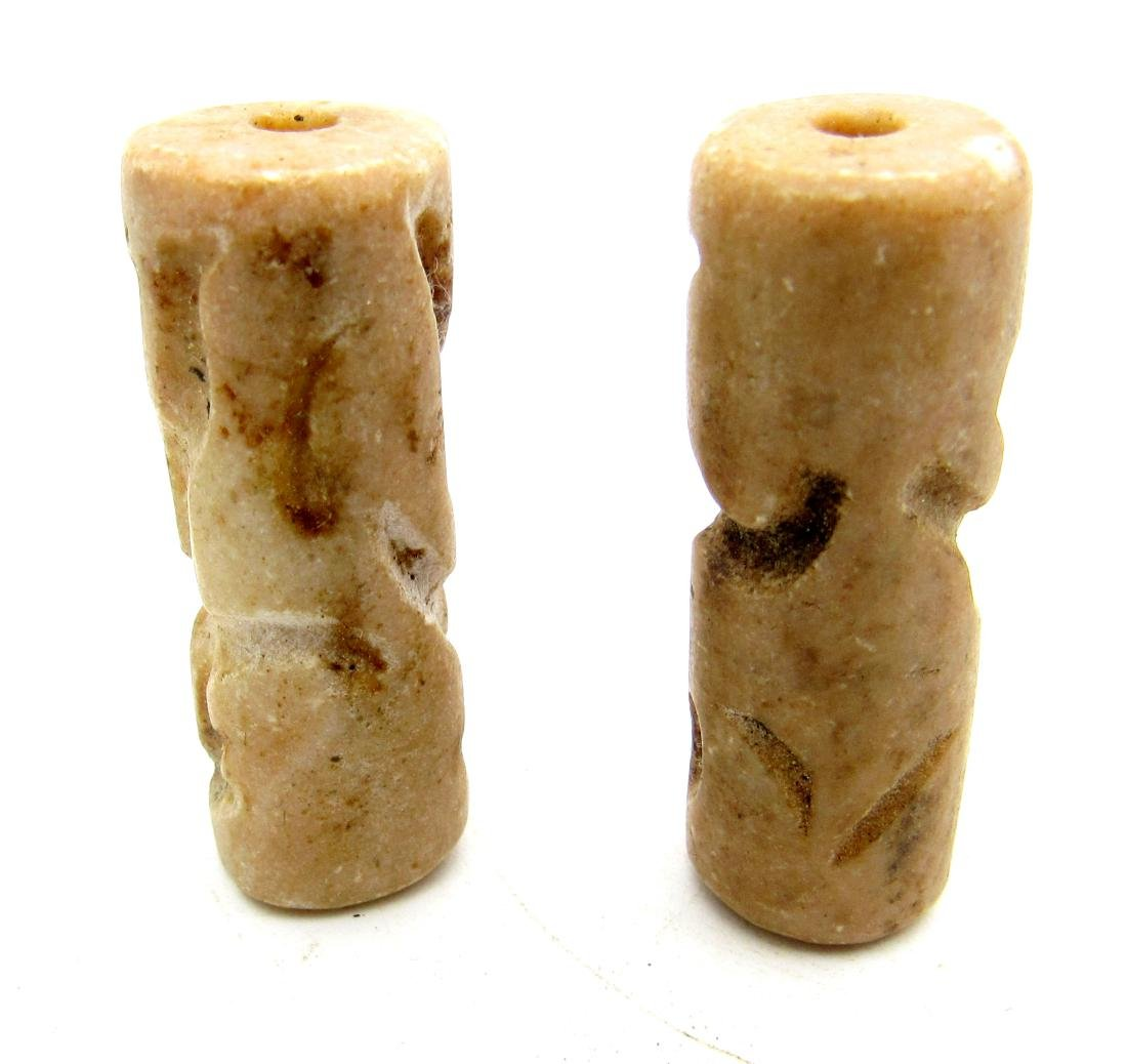 Pair of  Near Eastern Stone Cylinder Seals