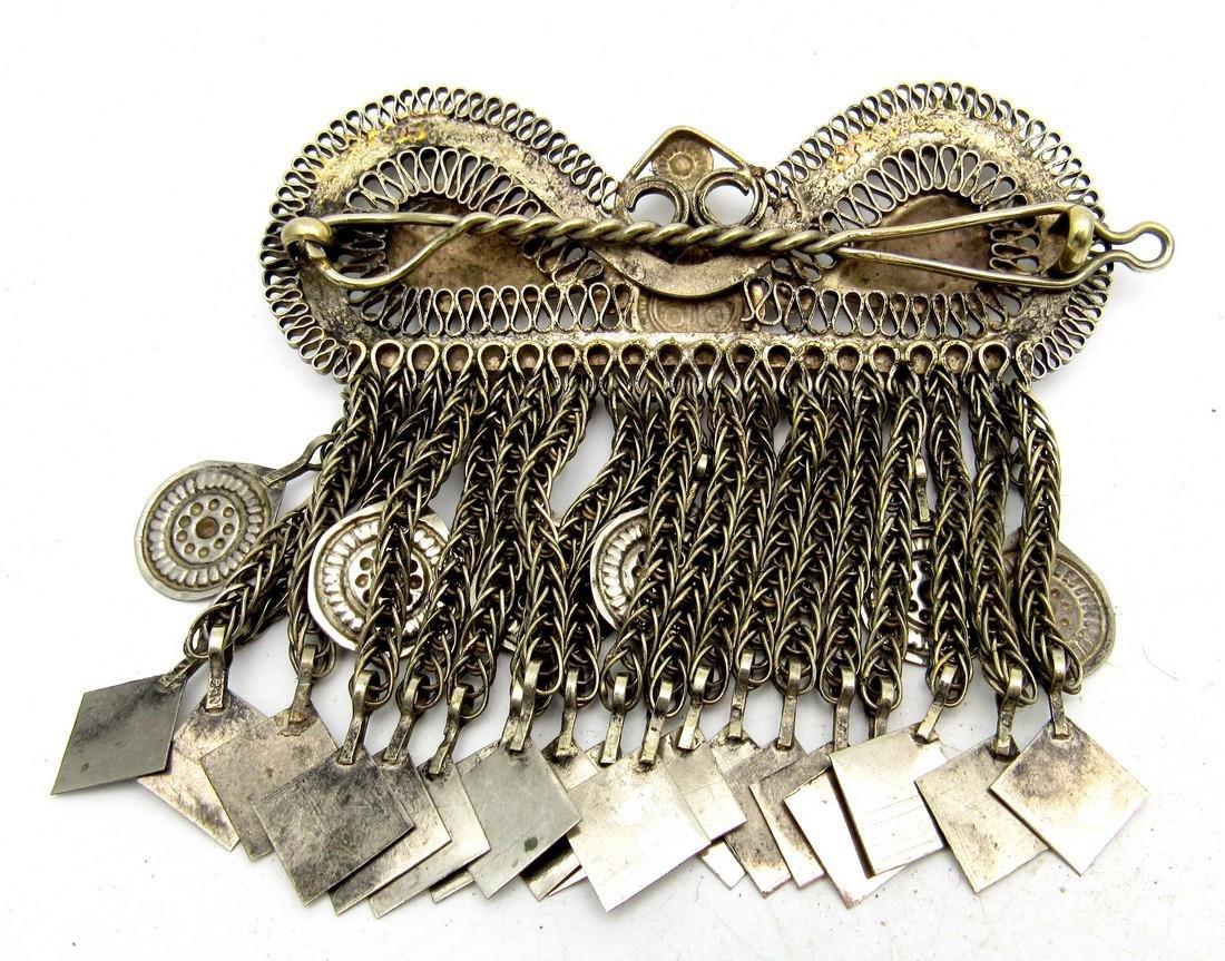 Bedouin Yemeni Filigree Brooch - 2