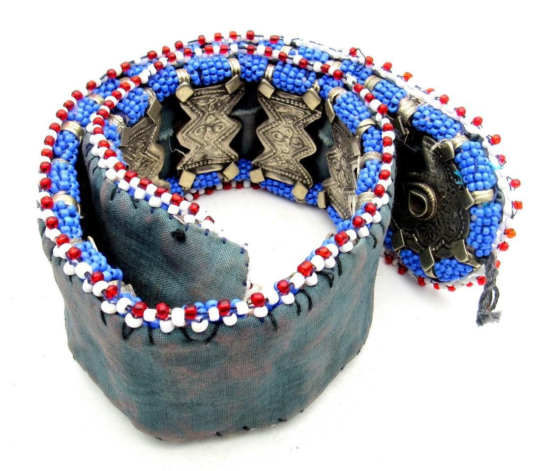 Bedouin Yemeni Decorated Wedding belt with Mounts - 5