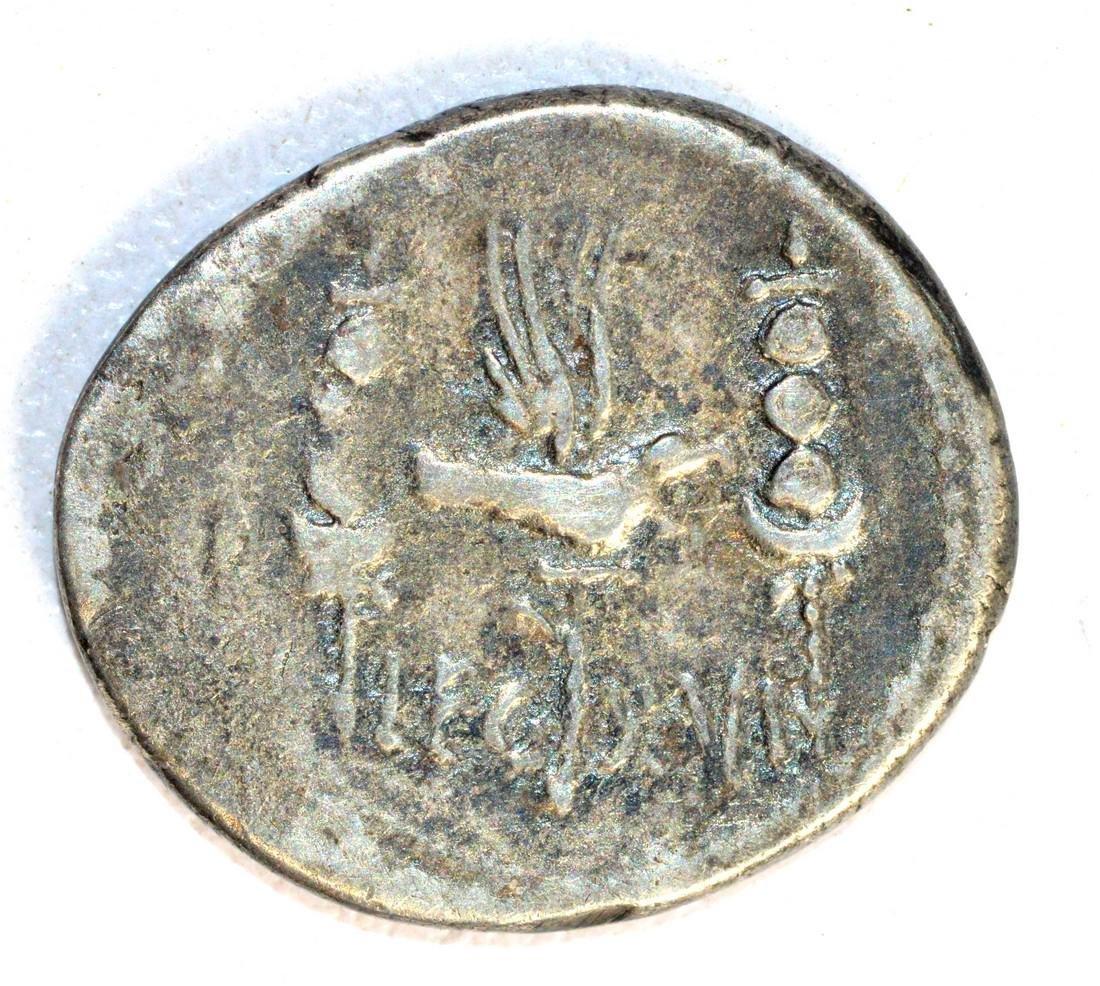 Rare Mark Antony Legionary Denarius; Gallera / Eagle - 2