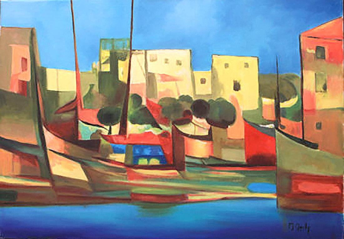 Port du Peche by Marcel Mouly Painting