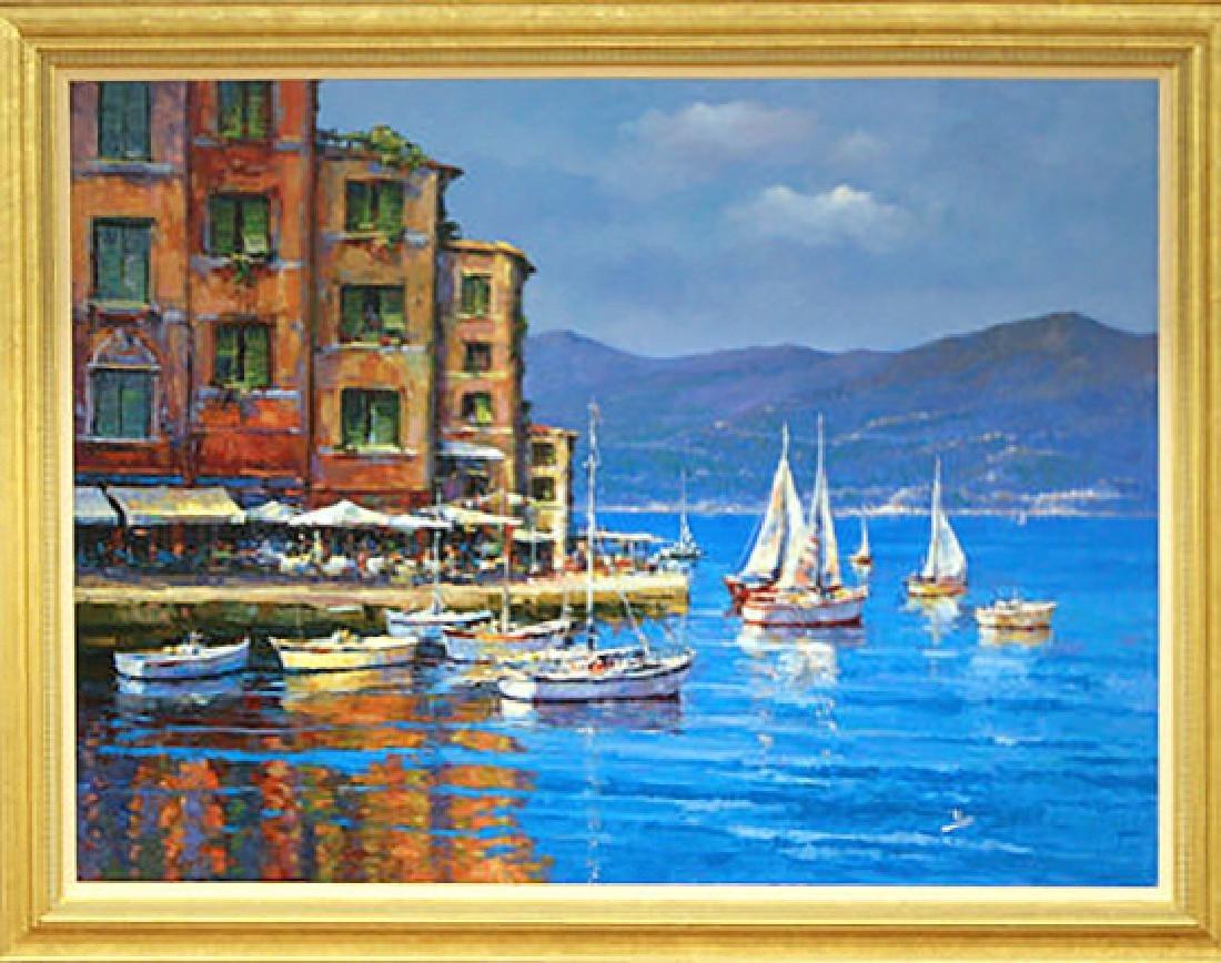 Italian Harbor by Alex Perez Painting