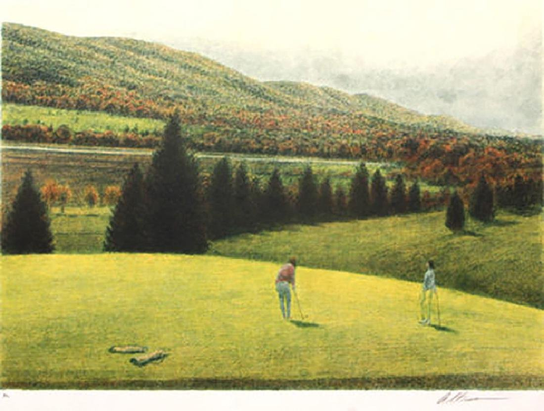 Golf I by Harold Altman Etching