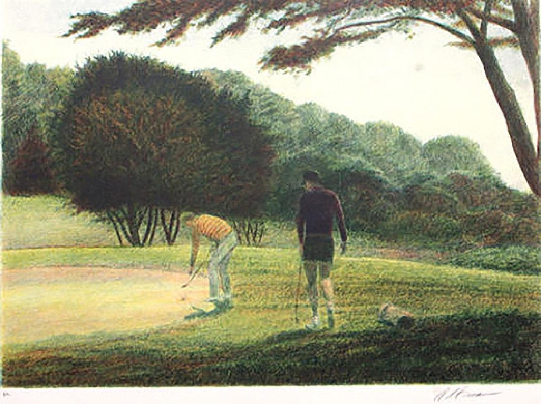 Golf II by Harold Altman Etching