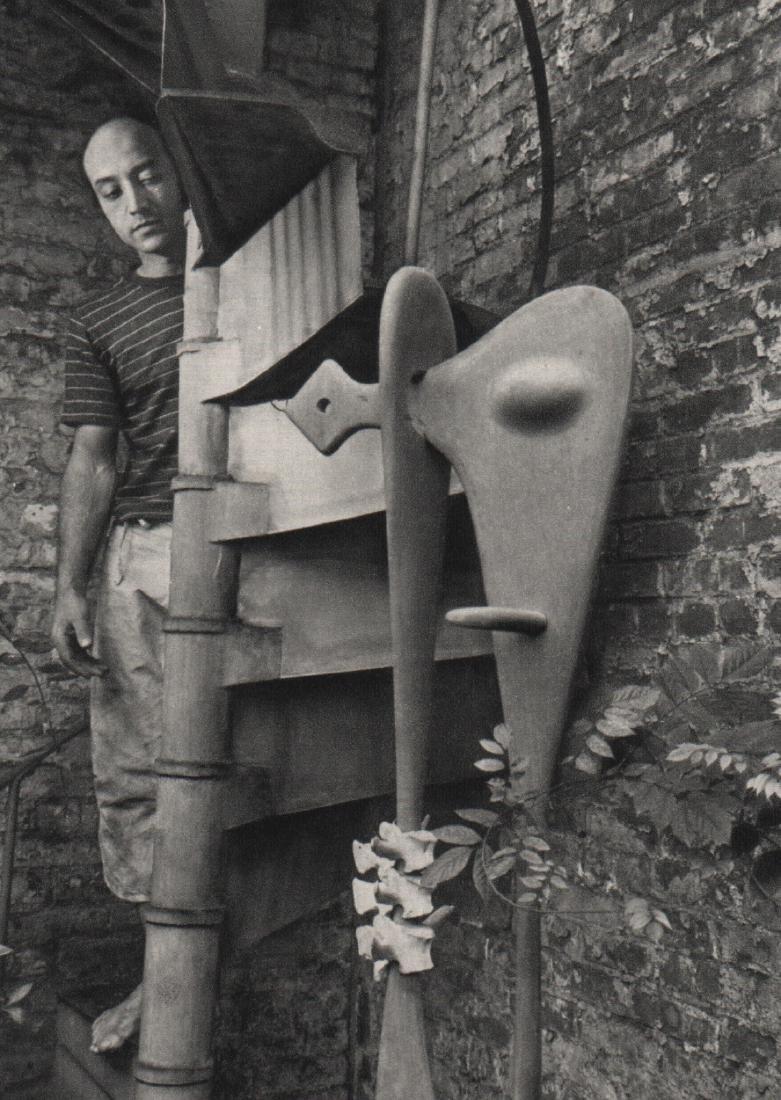 ANDRE KERTESZ - Noguchi, New York, 1945
