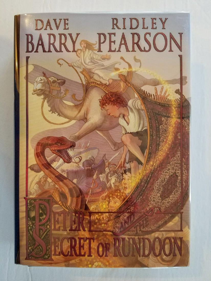 Signed by both Authors Peter and the Secret of Rundoon
