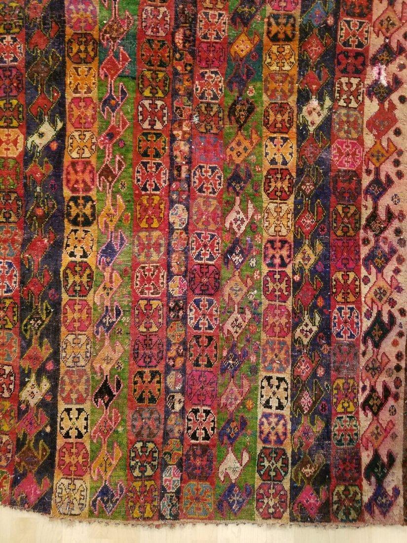 Vintage Hand-Knotted Afghan Nomad Rug 6.5x3.9 - 2